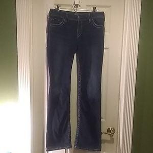 """Silver """"Suki"""" bootleg indigo jeans"""